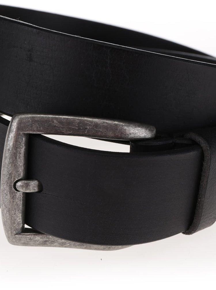 Čierny kožený opasok Pieces Nady
