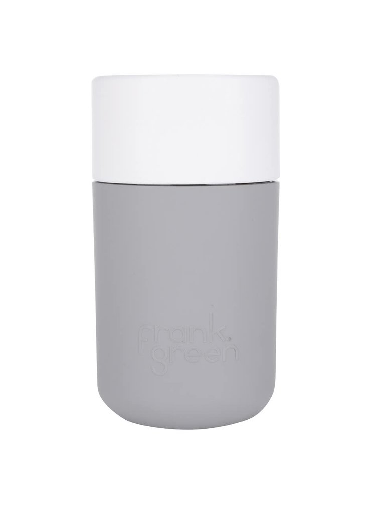 Šedý SmartCup s bílým víčkem Frank Green 340 ml