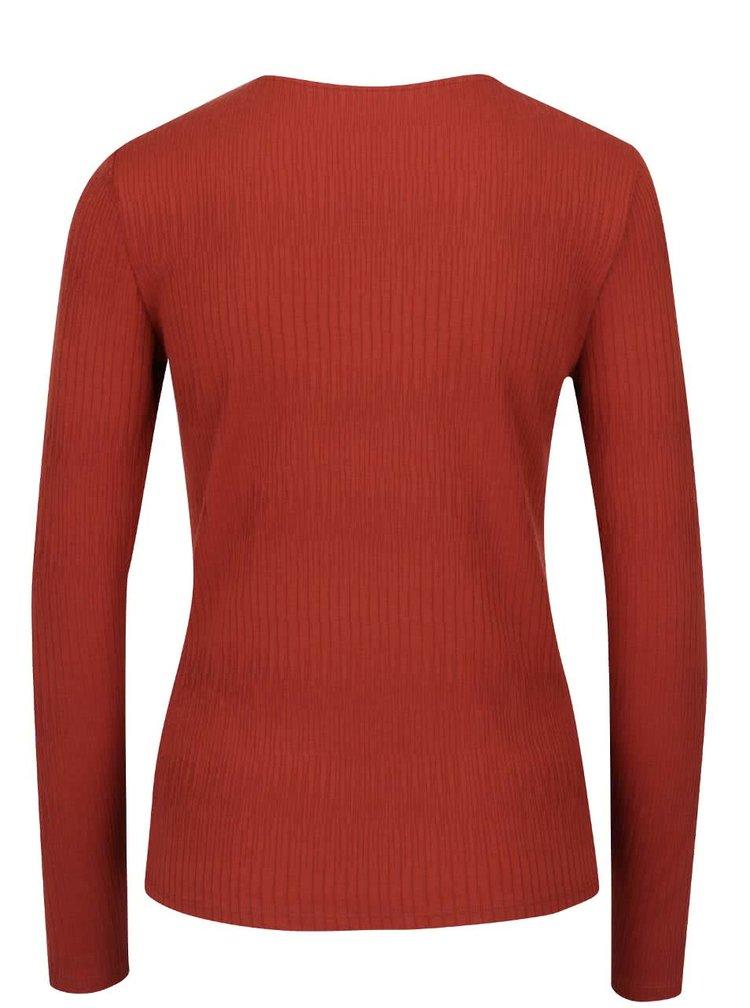 Bluza rosie ONLY Hanna cu sireturi