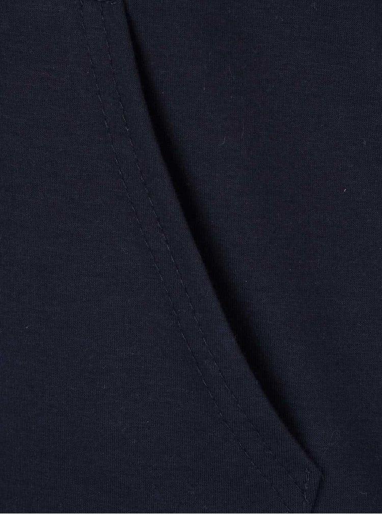 Tmavě modrá lehká mikina s nápisem Madonna