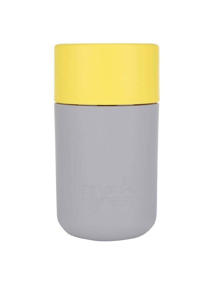 Sivý SmartCup so žltým viečkom Frank Green 340 ml