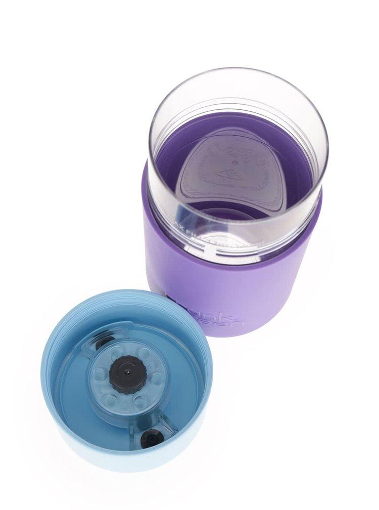 Fialový SmartCup s modrým víčkem Frank Green 340 ml