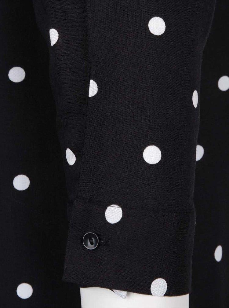 Černá košile s bílými puntíky ONLY Iris