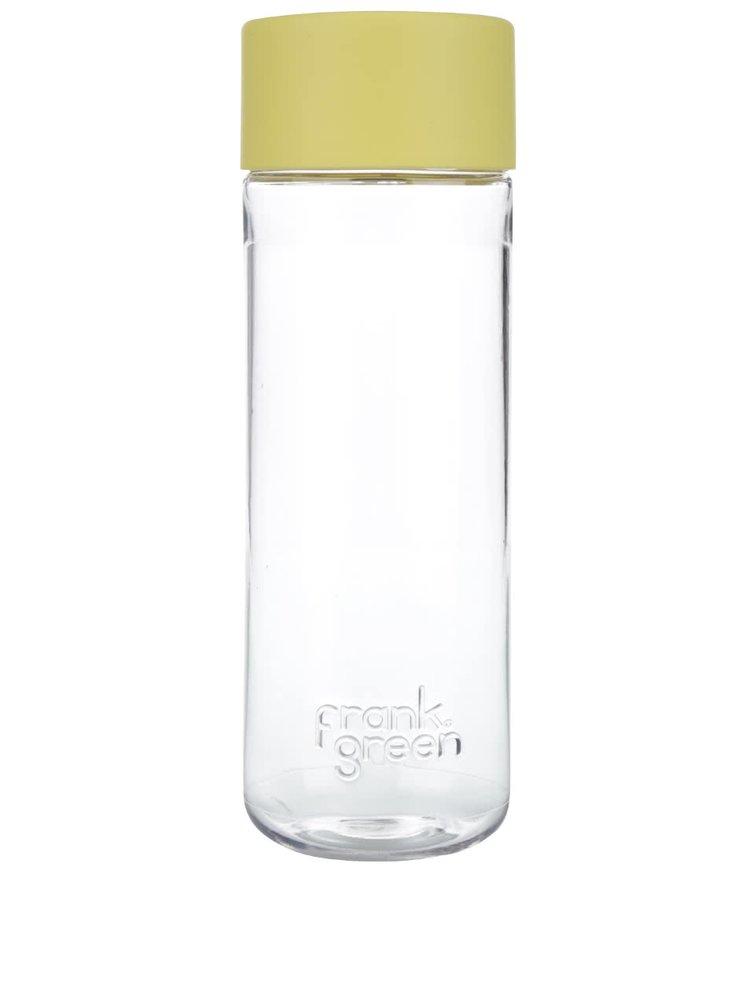 Fľaša na vodu SmartBottle so žltým vrchnákom frank Green 740 ml
