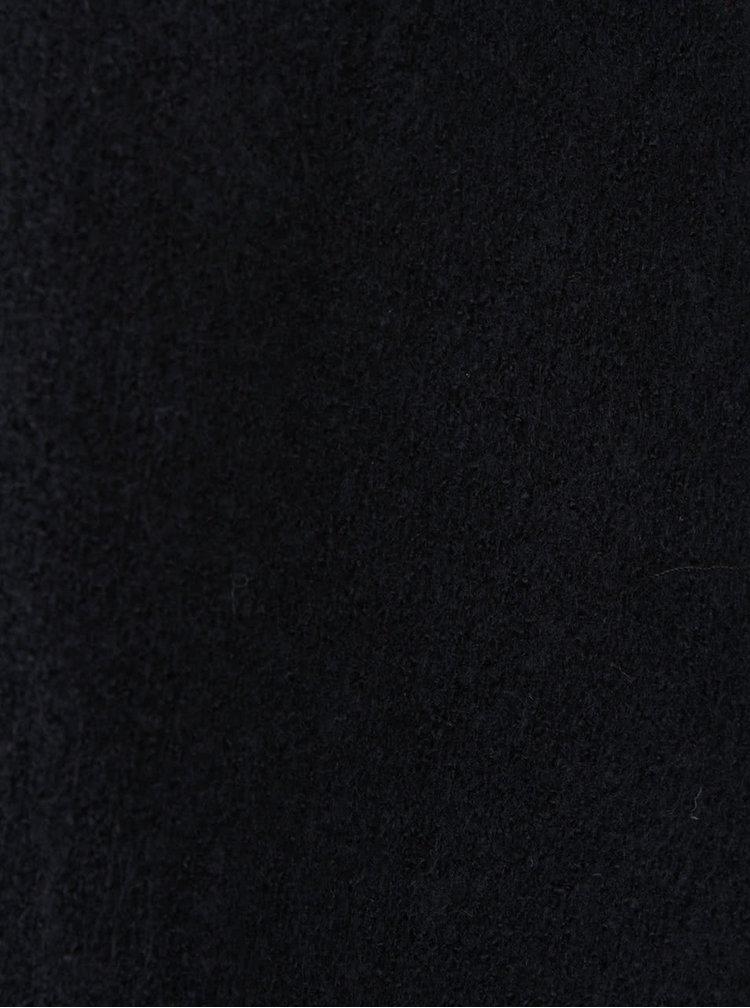 Černé pončo s třásněmi PEP Forsythia