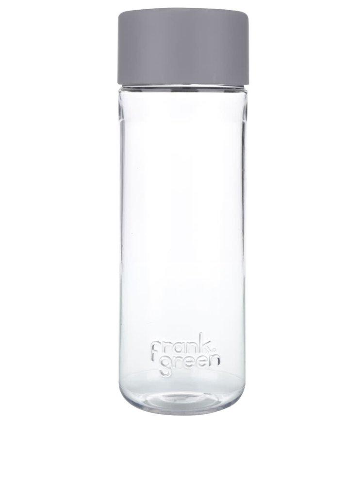 Fľaša na vodu SmartBottle so svetlosivým vrchnákom Frank Green 740 ml