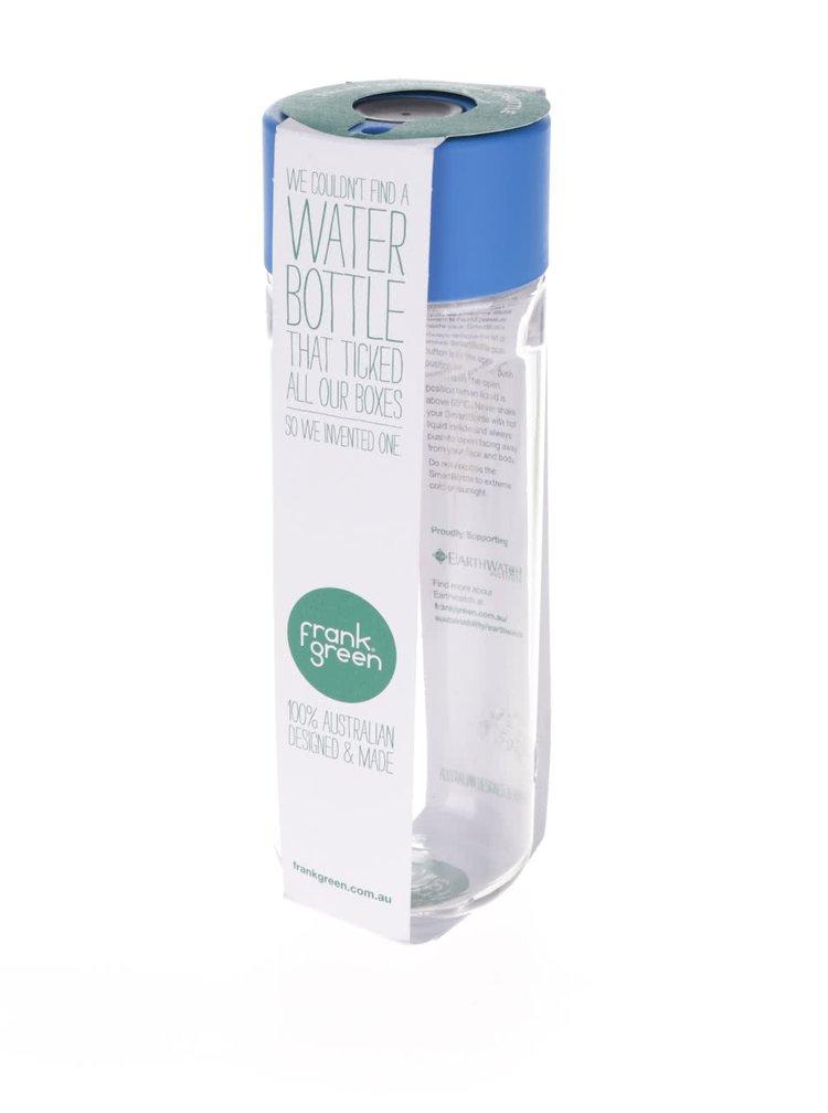Láhev na vodu SmartBottle s modrým víčkem Frank Green 740 ml