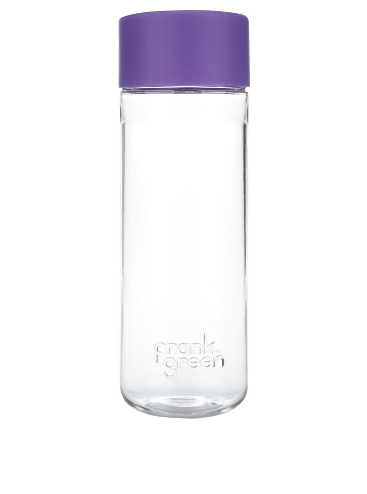 Láhev na vodu SmartBottle s fialovým víčkem Frank Green 740 ml