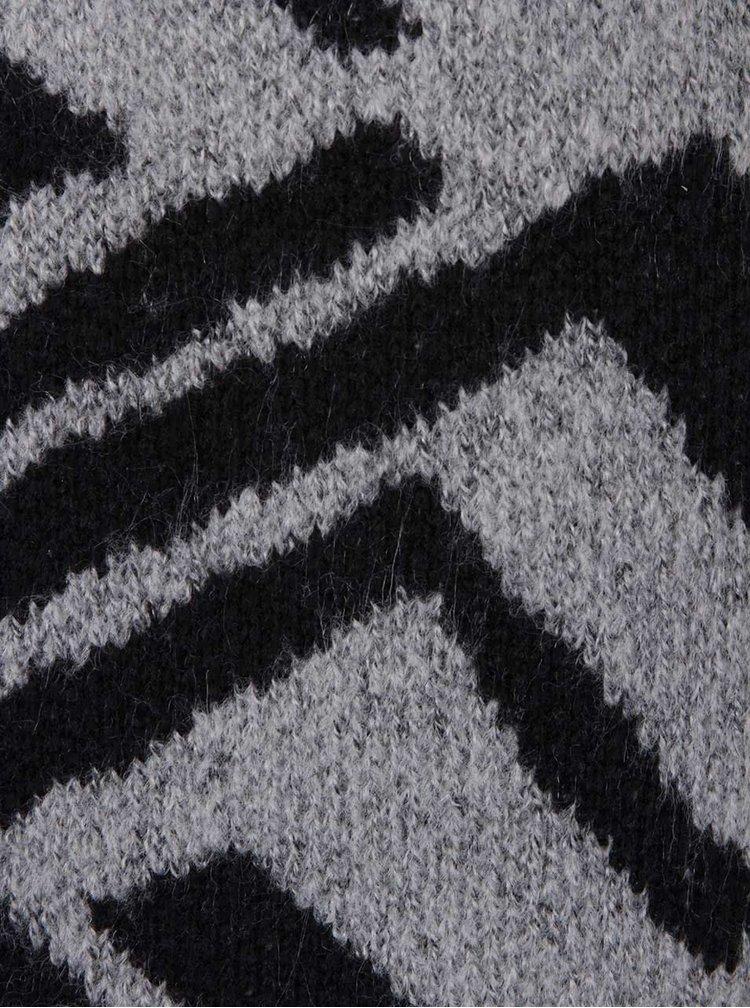 Černo-šedý vzorovaný kardigan ONLY Doha