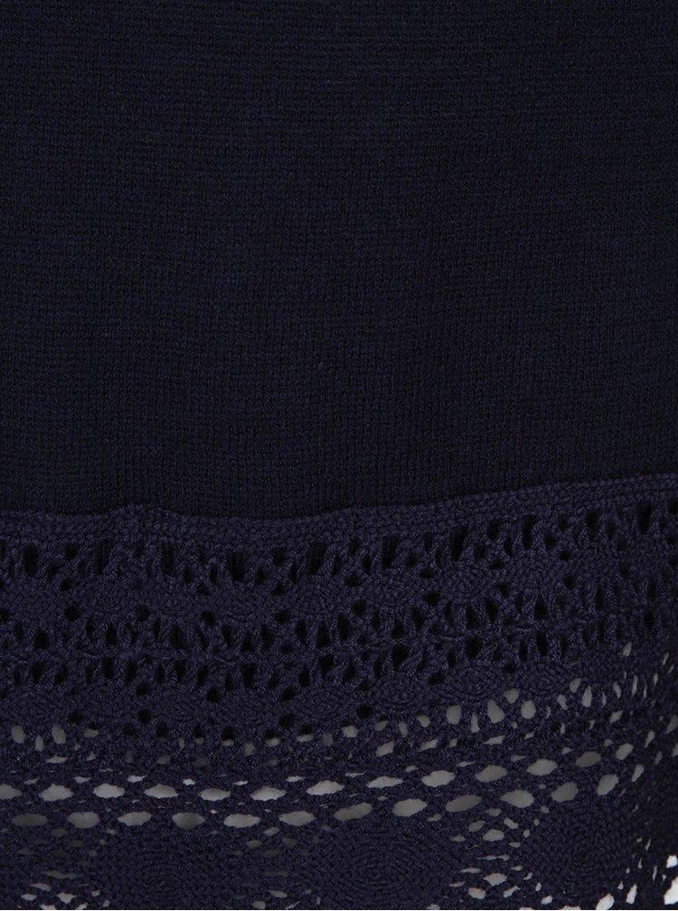 Cardigan albastru închis cu aplicație din dantelă Dorothy Perkins