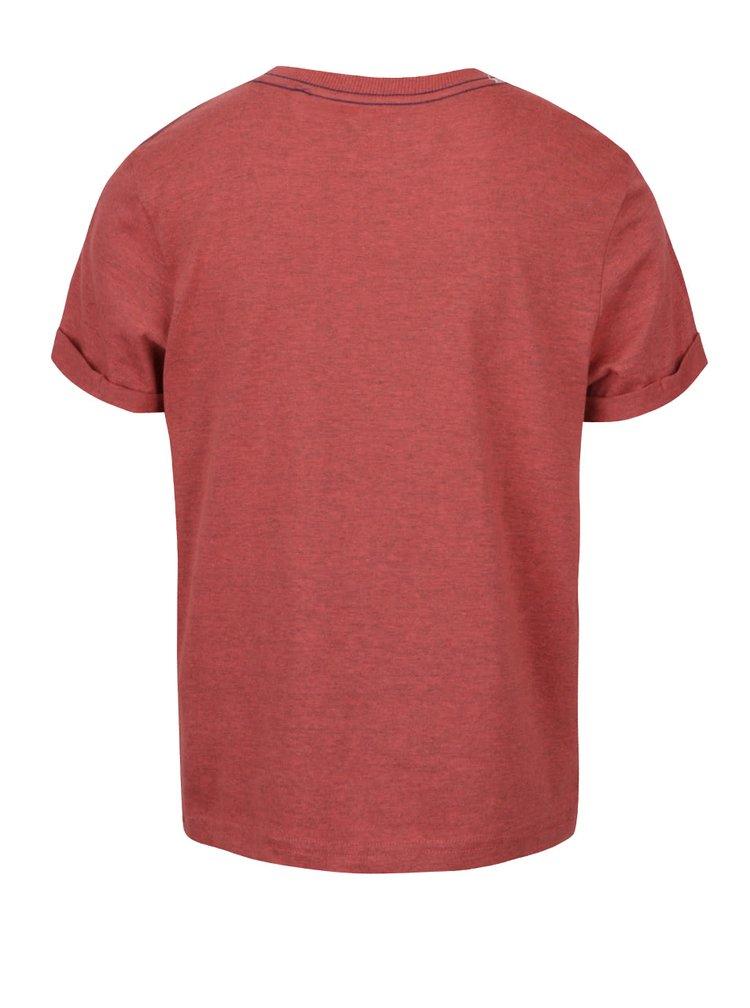 Tricou roșu cărămiziu 5.10.15. cu print