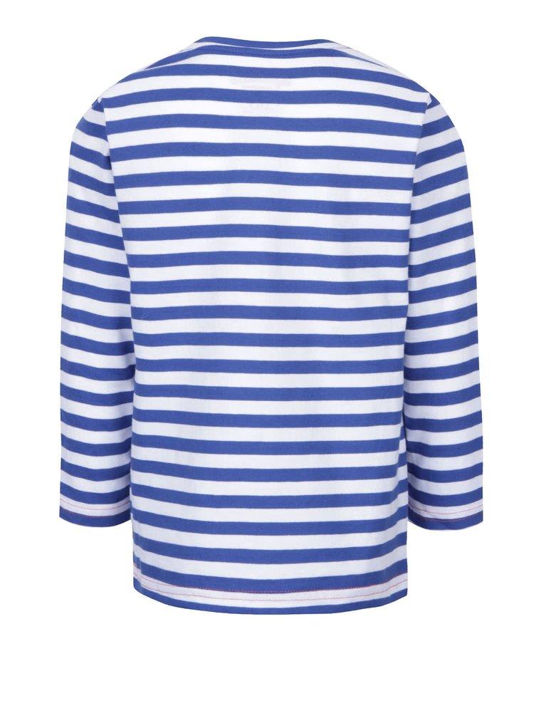 Modro-bílé klučičí pruhované triko s dlouhým rukávem 5.10.15.