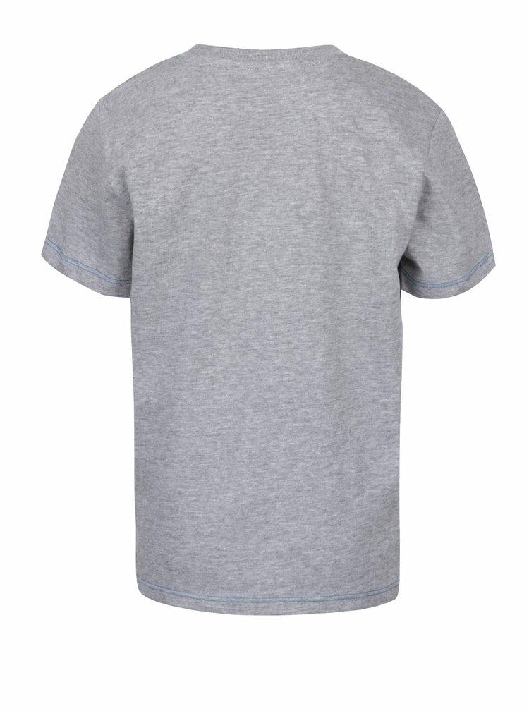 Šedé klučičí žíhané tričko s potiskem auta 5.10.15.