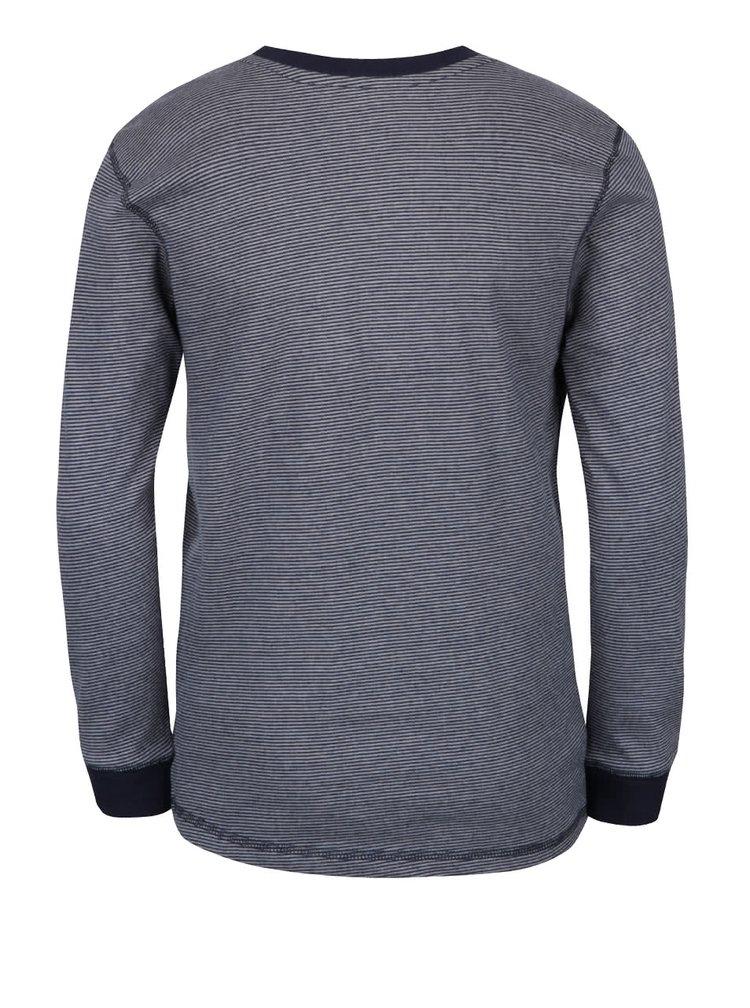 Bluză albastră 5.10.15. cu model discret și print
