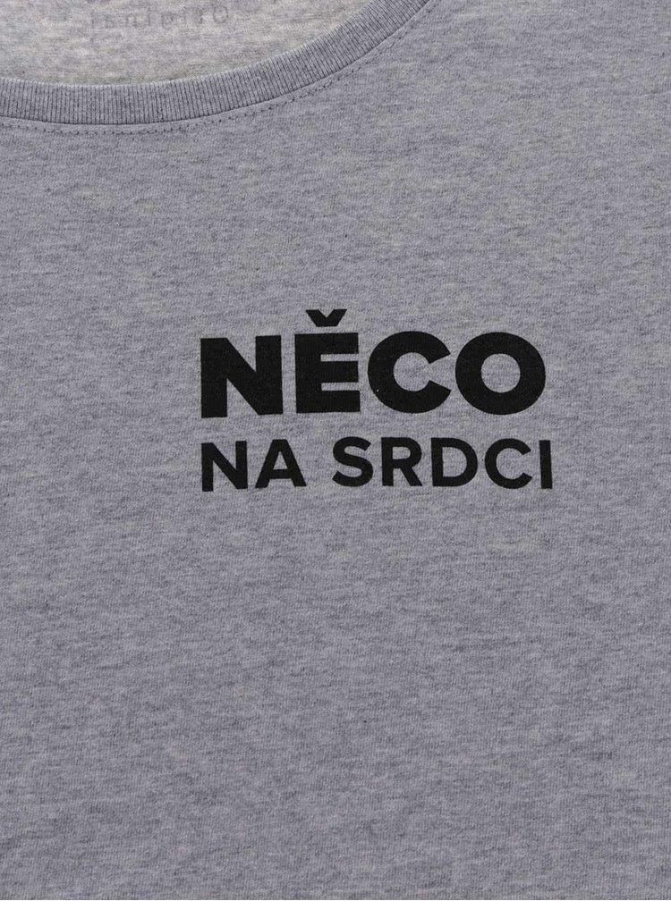 Šedé dámské tričko ZOOT Originál Něco na srdci