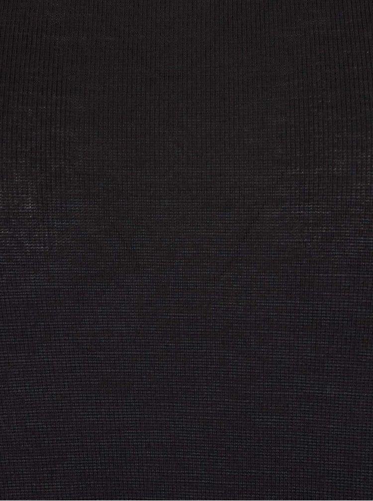 Rochie neagra ONLY Elva cu tiv asimetric