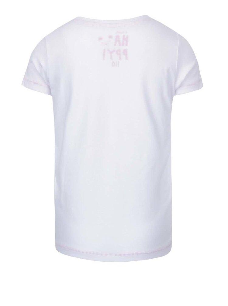 Biele dievčenské tričko s vreckom 5.10.15.
