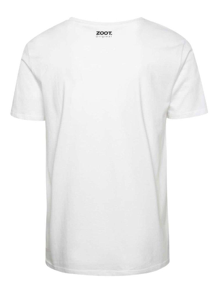 Bílé pánské tričko  ZOOT Originál Něco sem posral