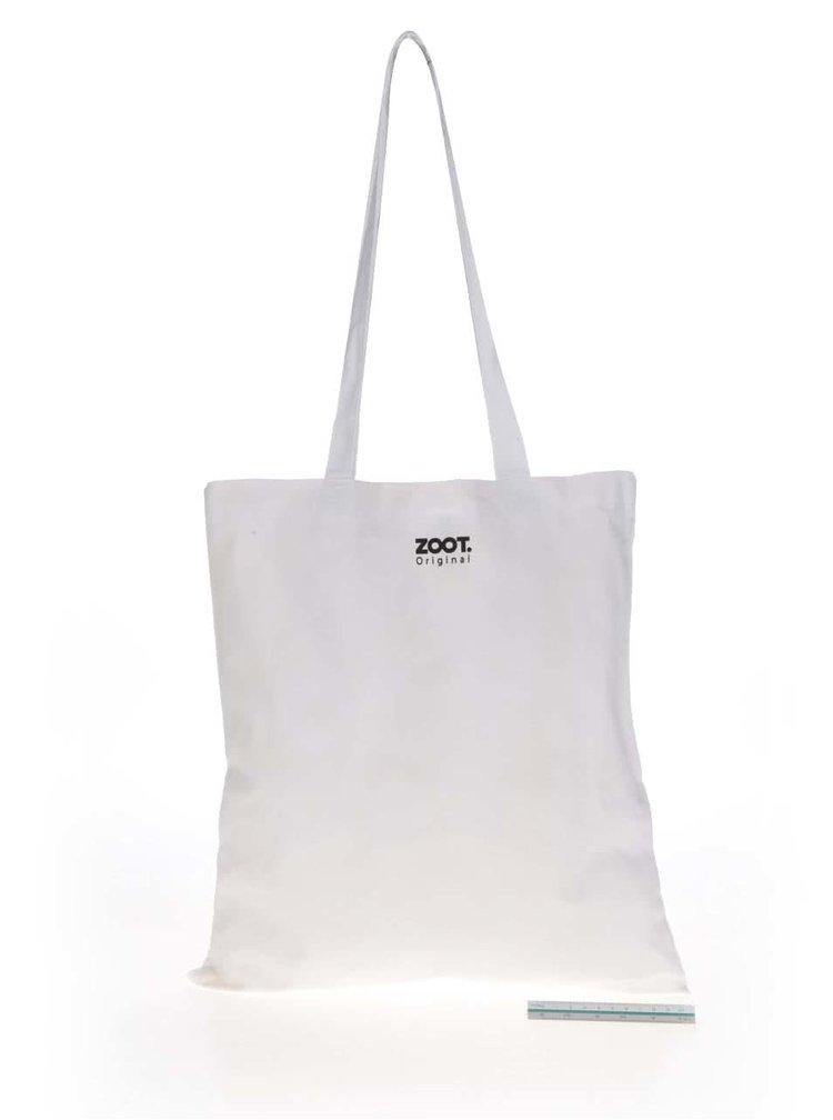 Bílá plátěná taška ZOOT Originál Něco nesu