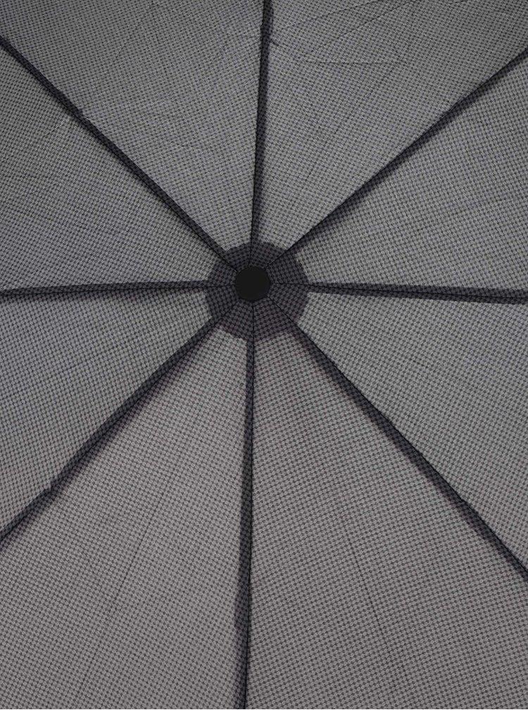 Šedý pánský vzorovaný vystřelovací deštník Derby