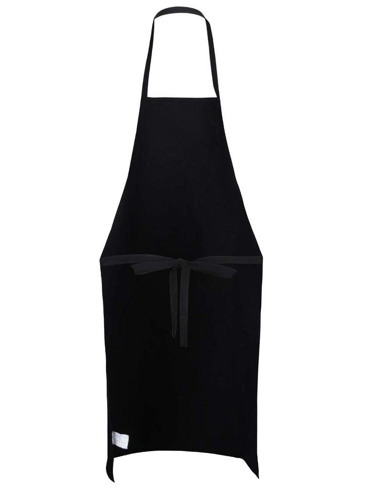 Černá kuchyňská zástěra s potiskem ZOOT Originál Něco ti udělám