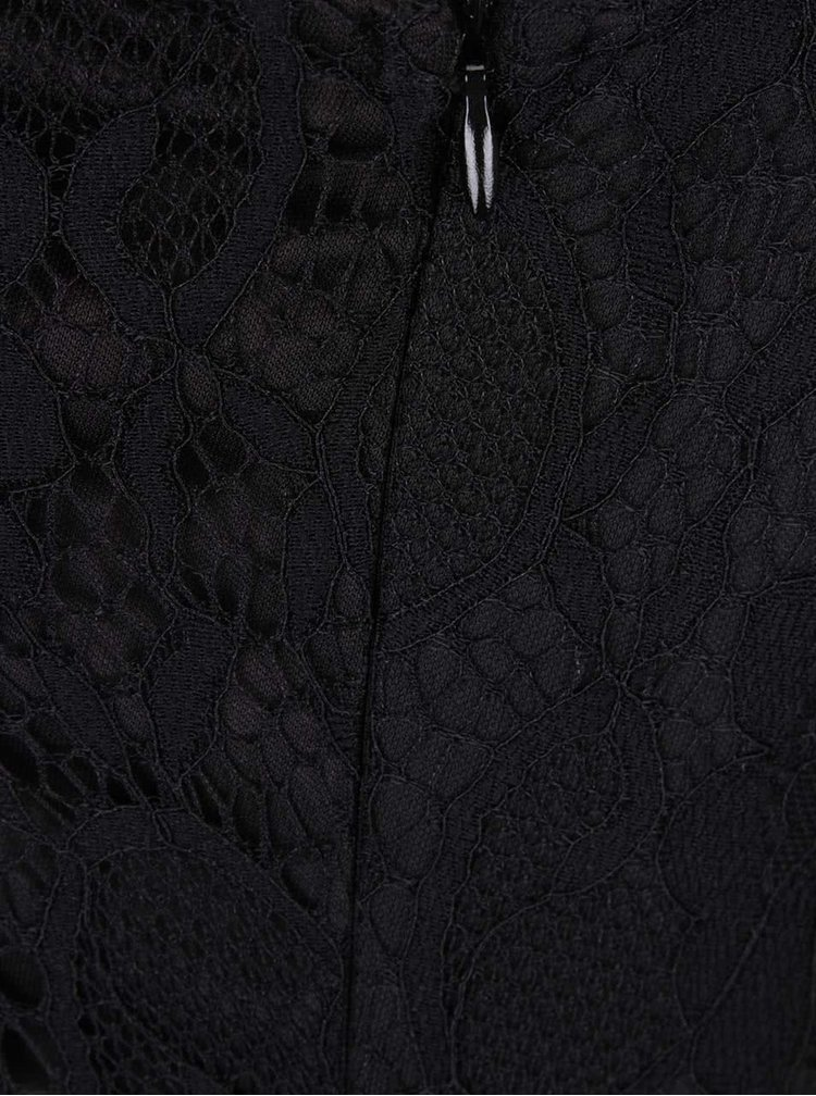 Rochie neagra Mela London cu detaliu din dantela