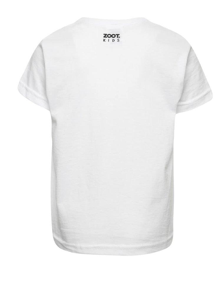 Bílé klučičí tričko ZOOT Kids Co je malý, to je hezký