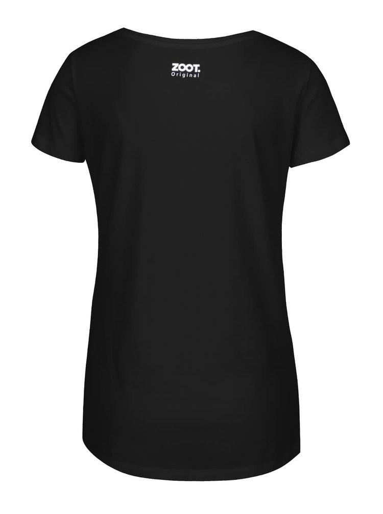 Černé dámské tričko ZOOT Originál Si moja šálka kávy
