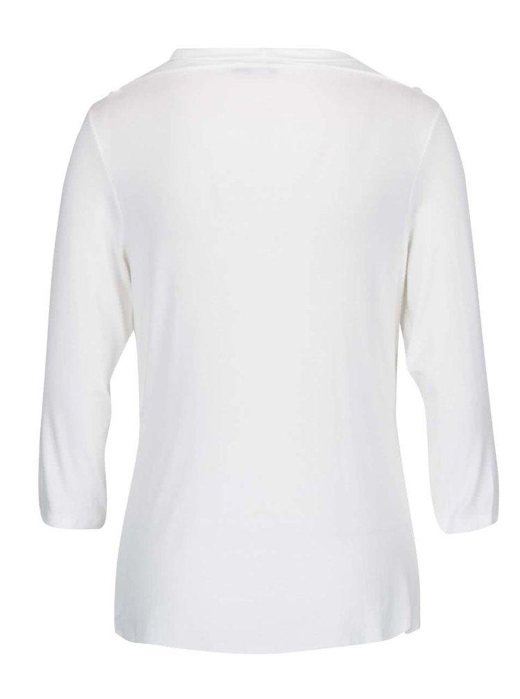 Bluză crem cu guler fronsat ZOOT