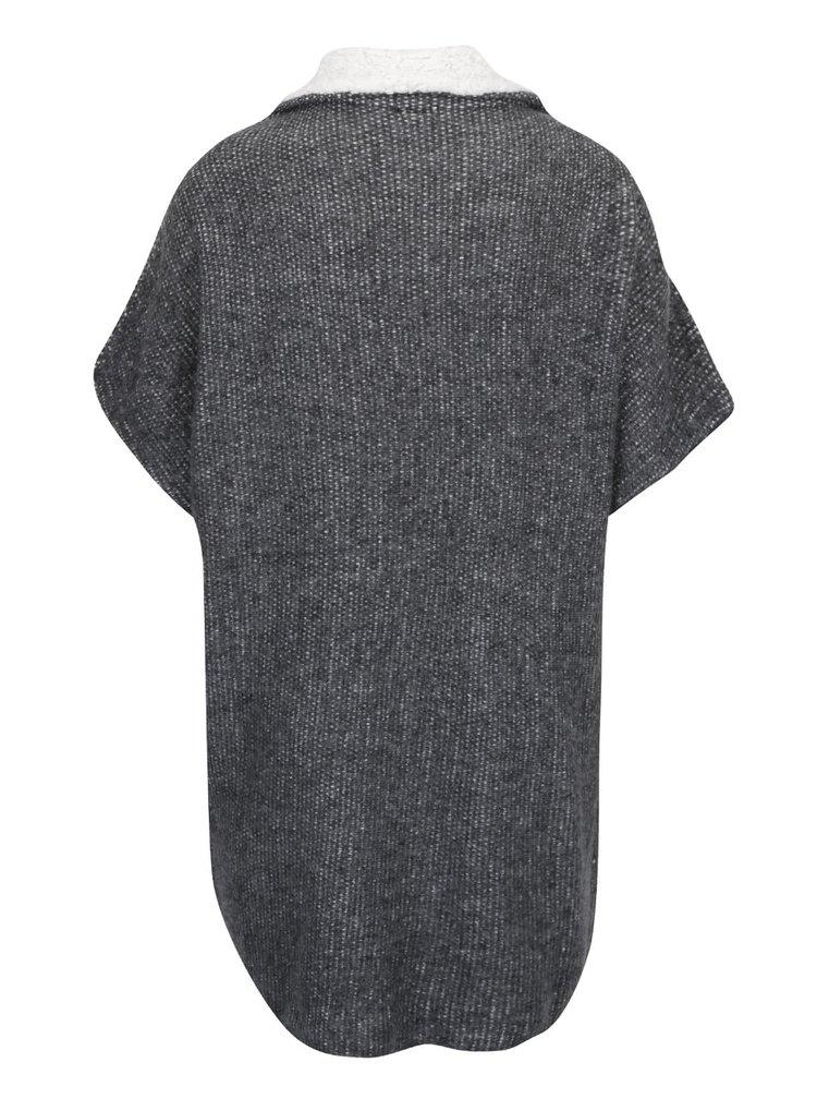Tmavě šedý cardigan s umělým kožíškem VILA Lees
