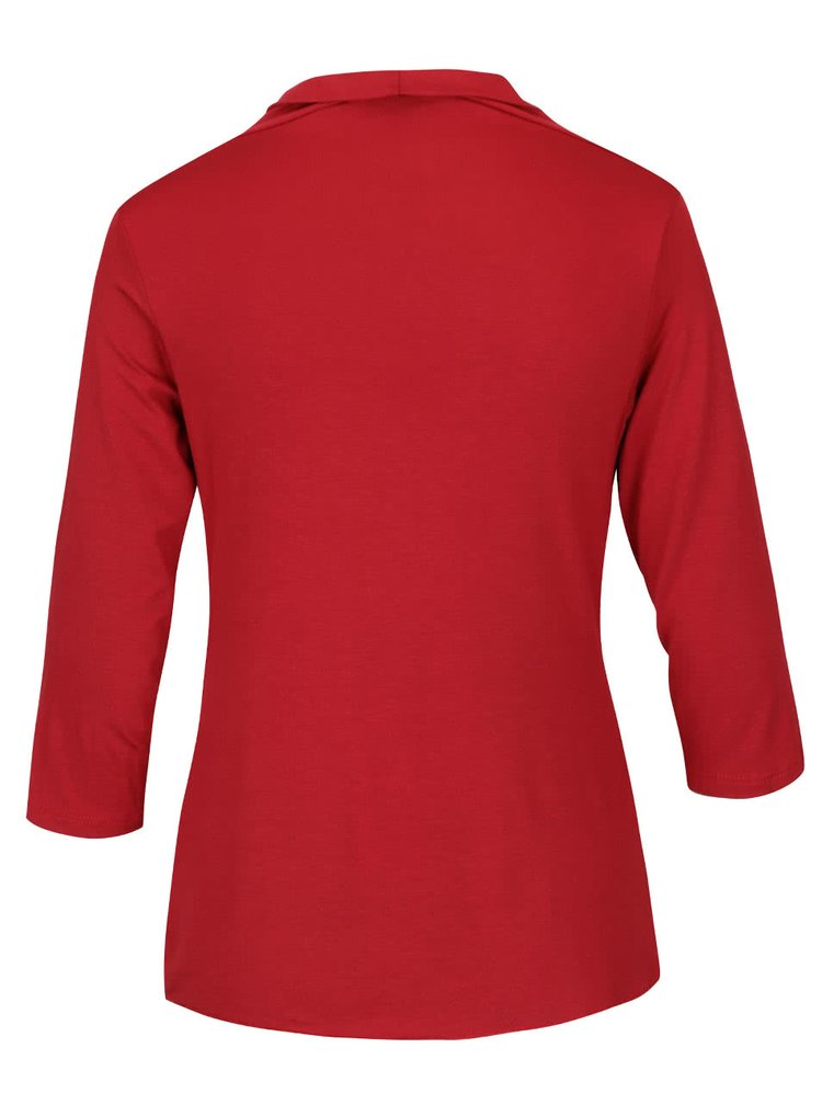 Bluză roșie cu guler fronsat ZOOT