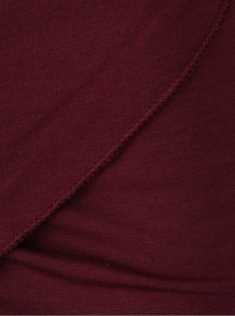 Bluza rosu Bordeaux cu guler fronsat ZOOT