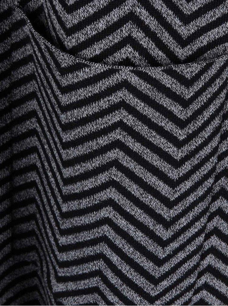 Černo-šedý vzorovaný kadrigan VILA Olympa