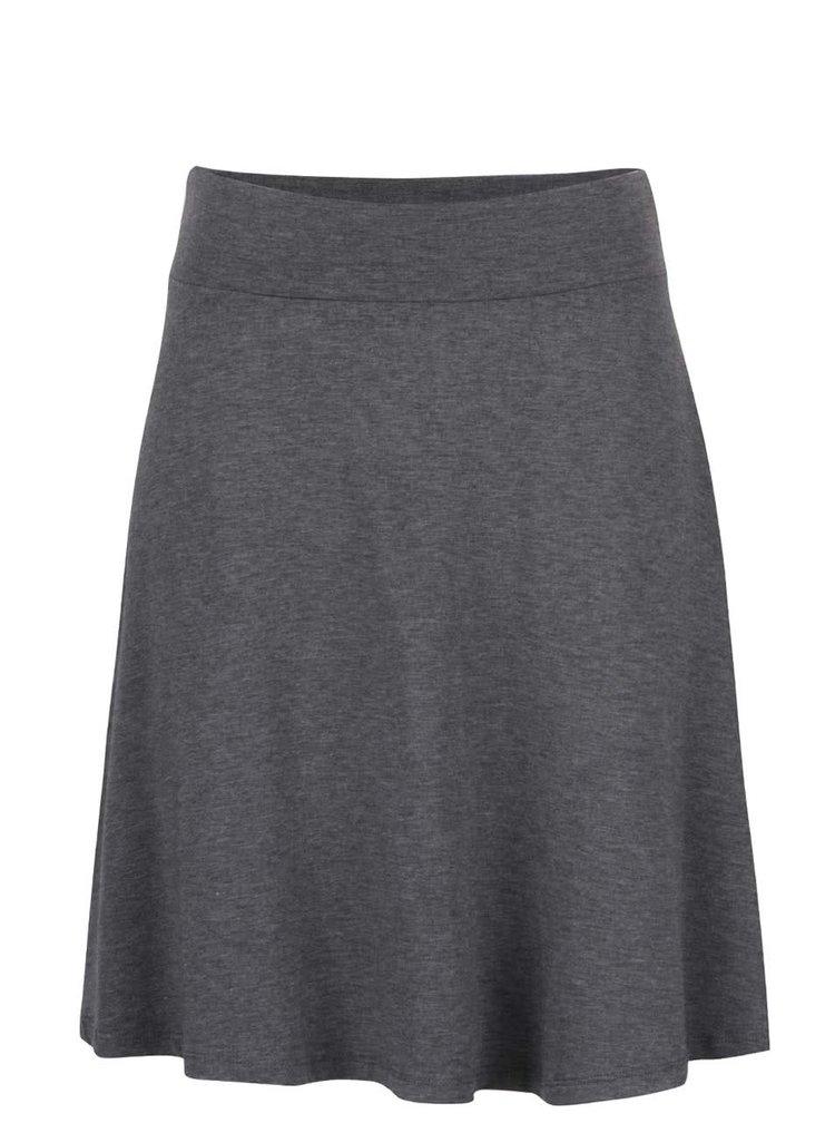 Tmavě šedá žíhaná sukně ZOOT