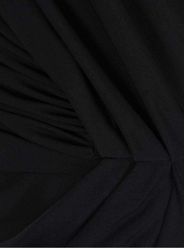 Černé maxišaty s nařasením na boku VILA Silia