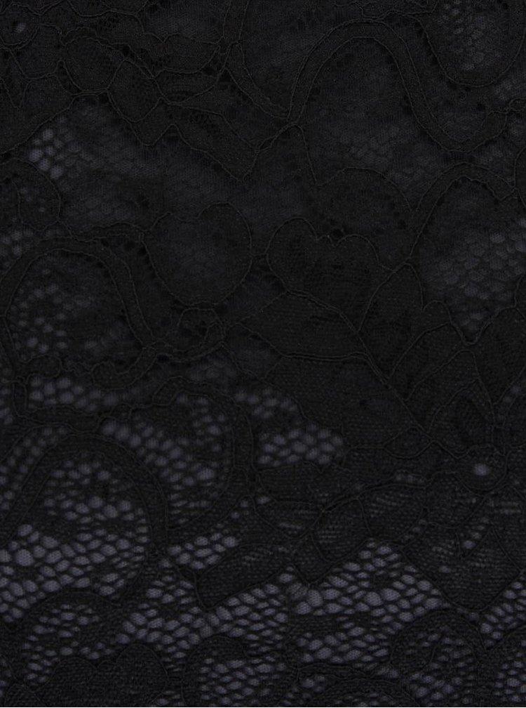 Černý krajkovaný top VILA Piatri
