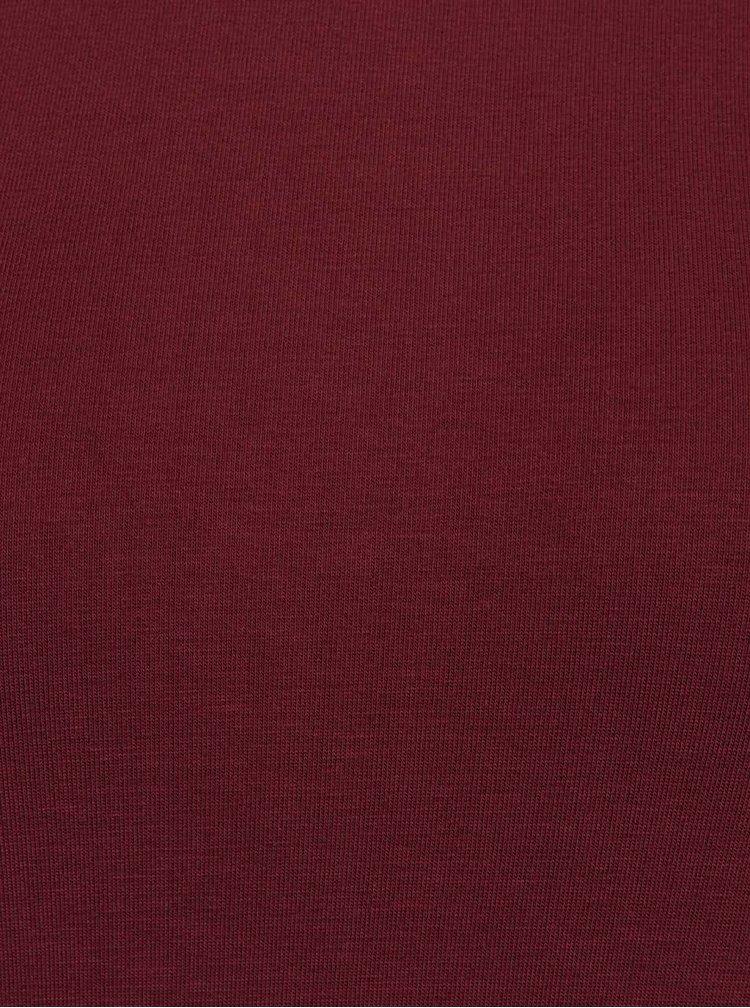 Rochie asimetrica rosu burgundiu ZOOT
