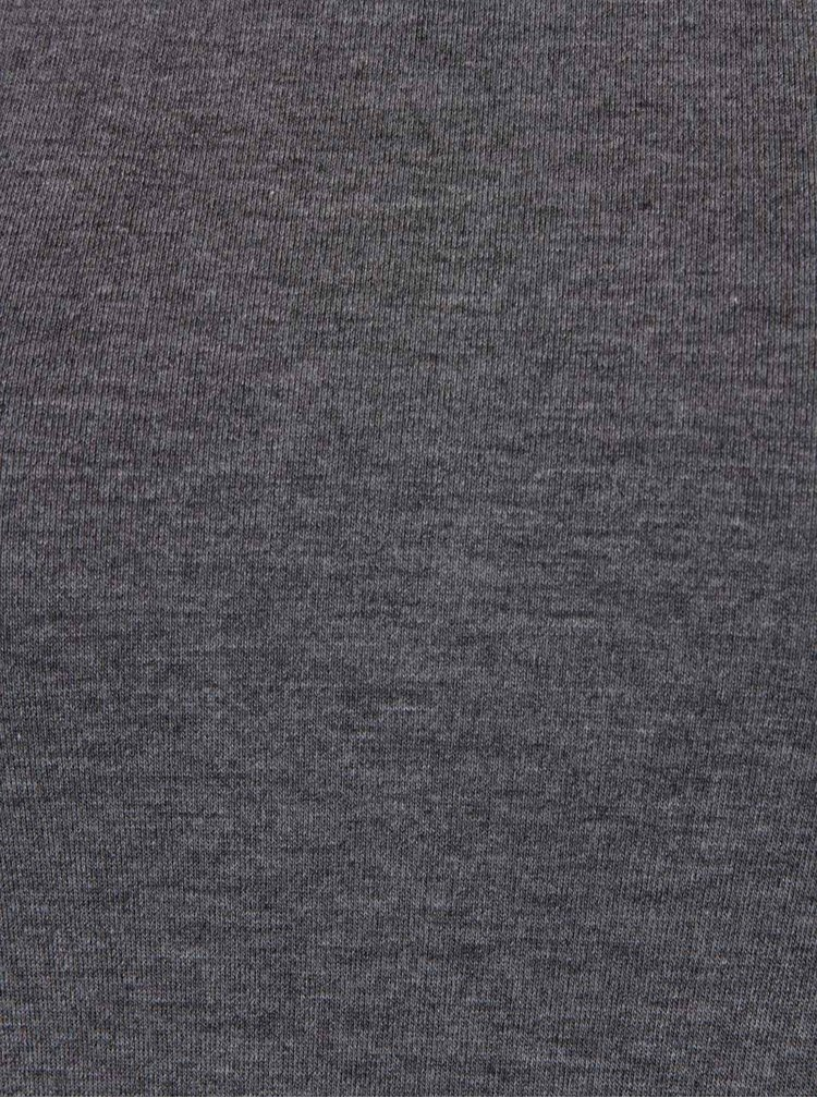 Rochie asimetrică gri melanj ZOOT