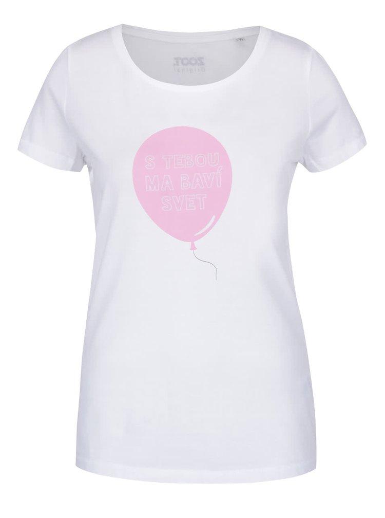 Bílé dámské tričko ZOOT Originál S tebou ma baví svet