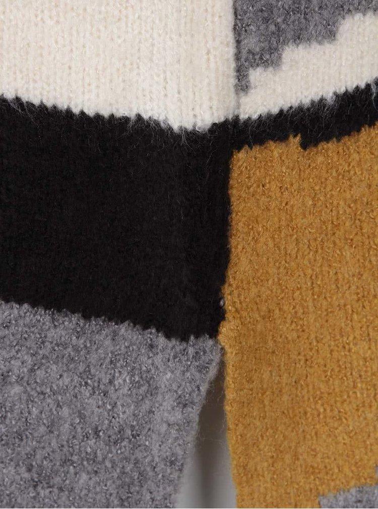 Béžovo-šedý dlouhý svetr VILA Totem