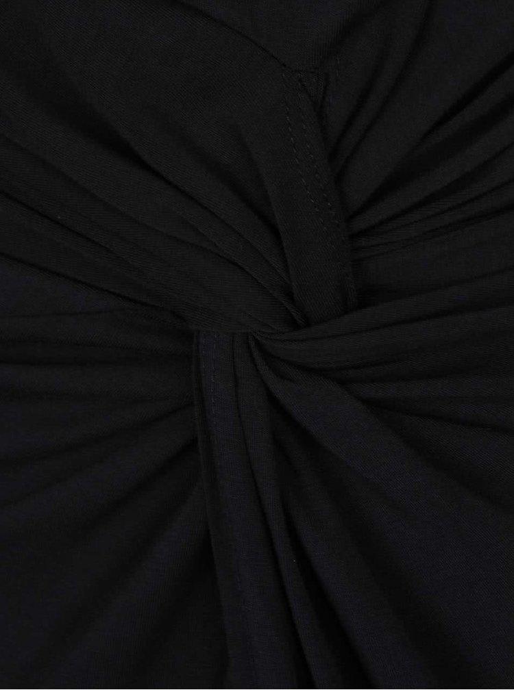 Rochie neagra cu decolteu fronsat ZOOT