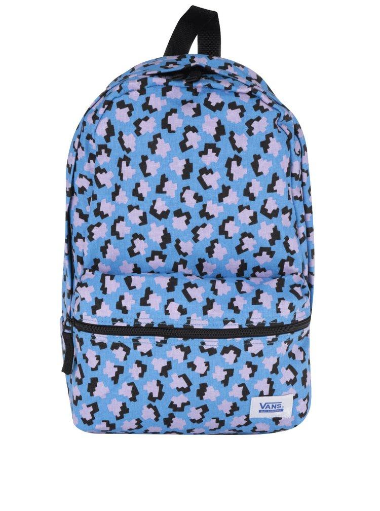 Černo-modrý dámský vzorovaný batoh VANS Eley