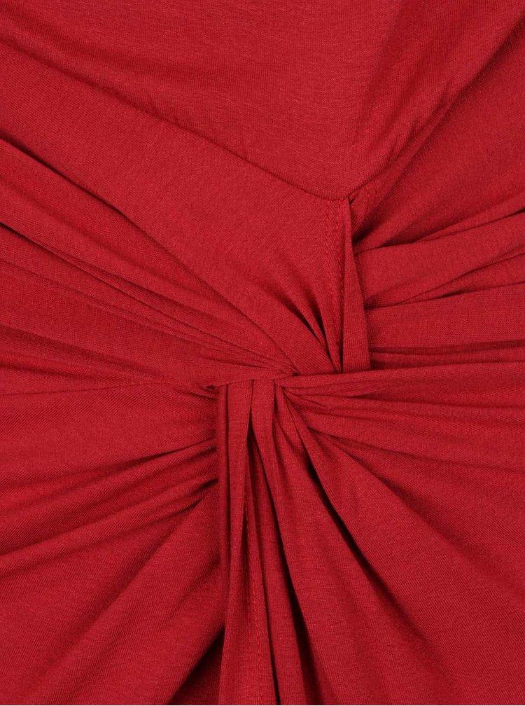 Rochie roșie cu decolteu fronsat ZOOT