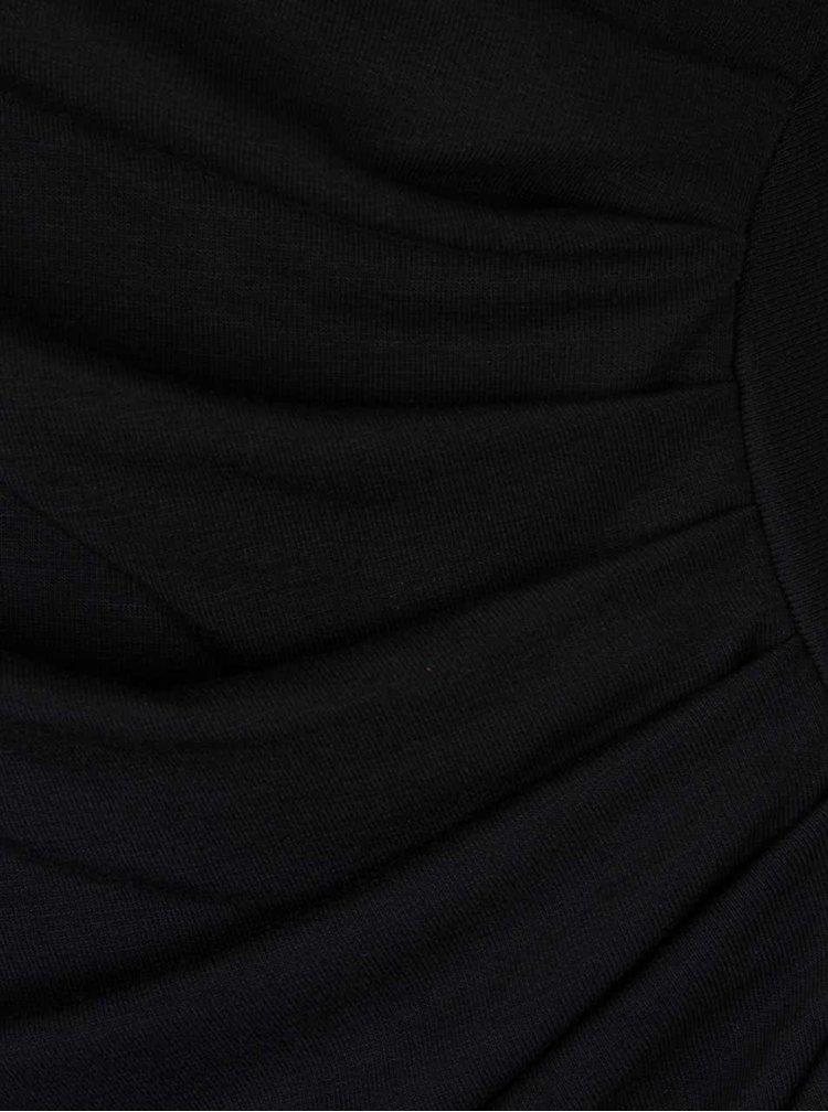 Rochie neagra cu fronseuri ZOOT