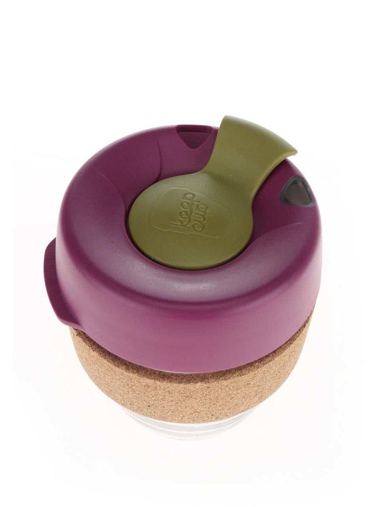 Designový cestovní skleněný hrnek KeepCup Brew Cinnamon Cork Small