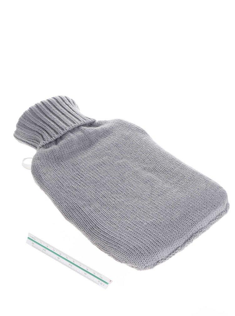 Set šedé hřejivé láheve na vodu a pletených ponožek Something Special