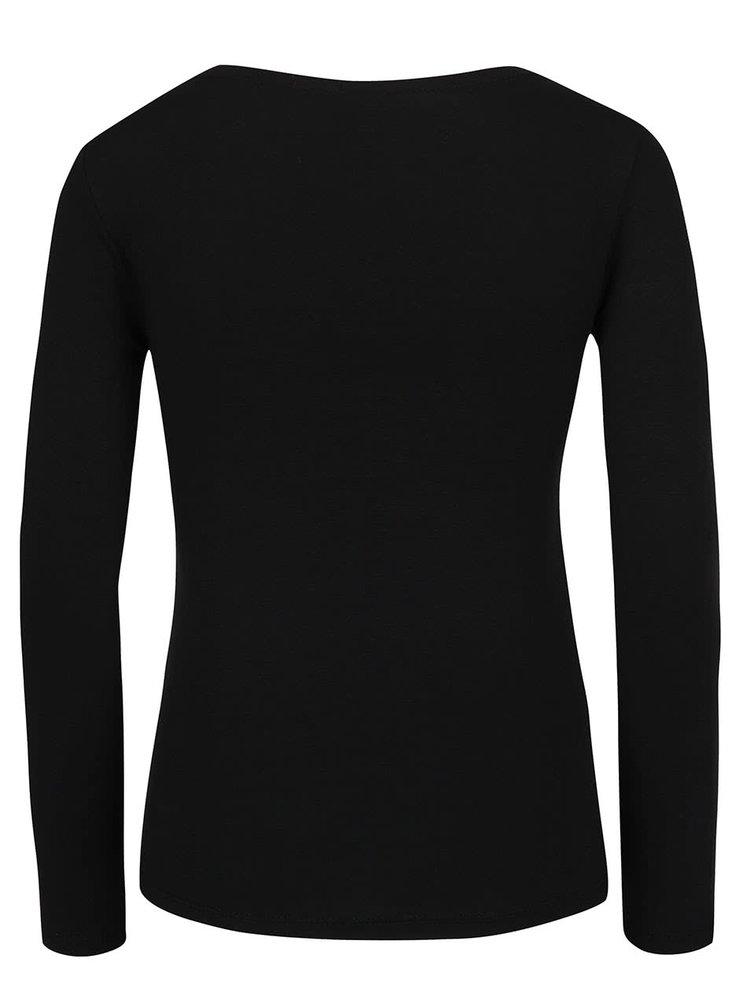 Černé tričko s dlouhým rukávem ZOOT