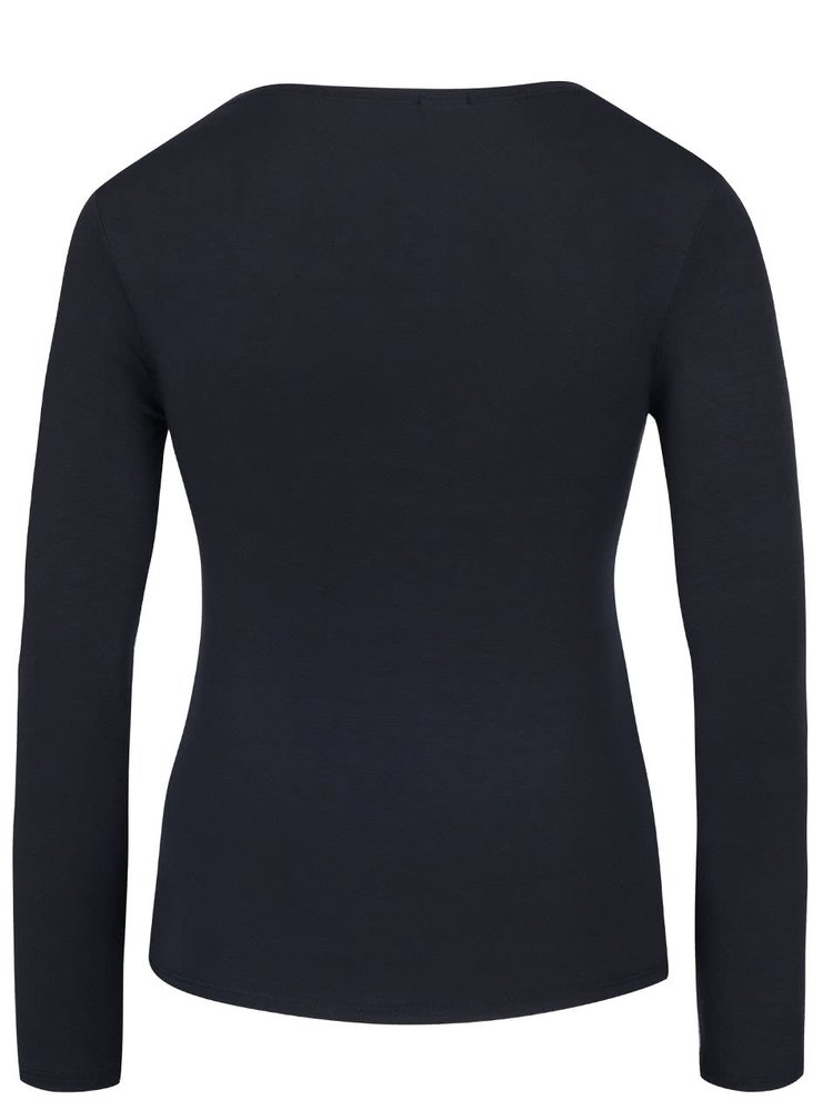 Tmavě modré tričko s kulatým výstřihem a dlouhým rukávem ZOOT