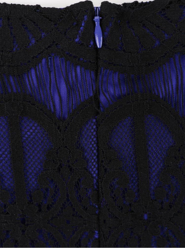 Čierno-modré čipkované šaty Dorothy Perkins Curve