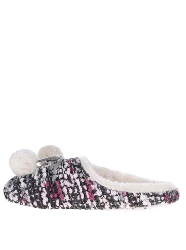 Růžové vzorované pantofle Something Special